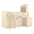 Калипсо (для девочек) кровать комбинированная со столом 509.230