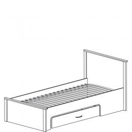 Колумб 713 Кровать 1сп 900 со спинками с ящиком