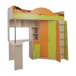 Сити 4.2 кровать чердак со столом