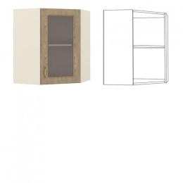 Эмили Шкаф навесной угловой с витриной