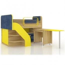 Джинс ЛД.507.140.000 кровать комбинированная со столом