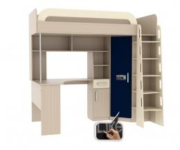Мультиплекс кровать-чердак со столом (фасад грифельный)