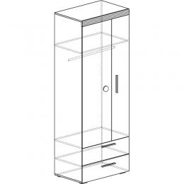 Индиго  741 Шкаф 2-дверный