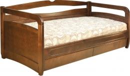 Кровать «Омега» односпальная 80 орех